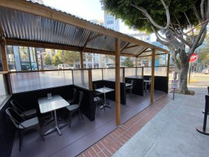 Outdoor Dining at Sushi Zone